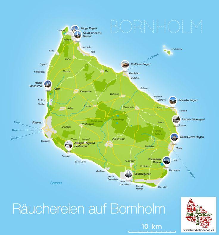 Karte der Räuchereien auf Bornholm #karte #uebersicht #raeuchereien #bornholm