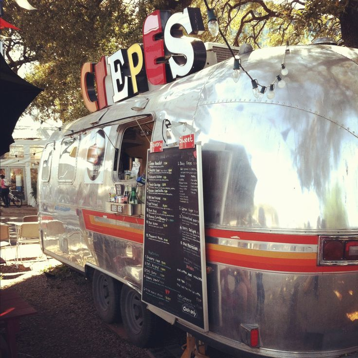 Vintage Crepes food truck, South Congress Austin