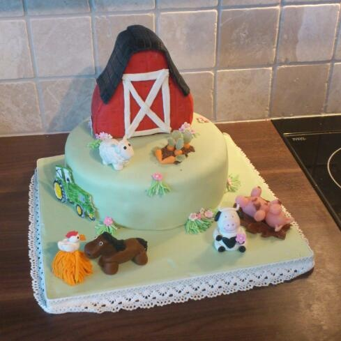 17 Best Images About Farm Animals And Tractor Cake