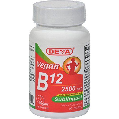 Deva Vegan Vitamins Sublingual B12 - 2500 mcg - 90 Tablet...
