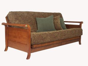 Lexington Warm Cherry Full Futon Set by Strata Furniture. Futon sofa bed wall hugger traditional frame