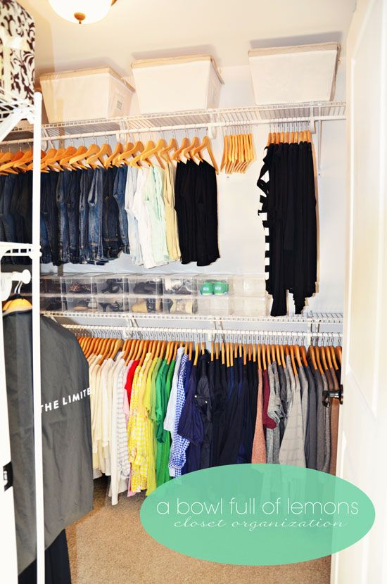 How to organize the master closet     ~ A Bowl Full of Lemons