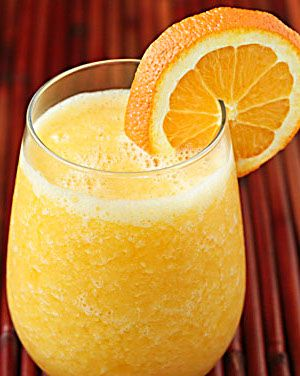 Orange smoothie is delicious,healthy and easy to make mixed drink.