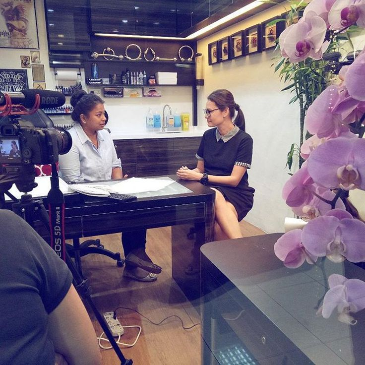 Eunice Olsen with Sumithra Debi.http://womentalk.com/  https://www.youtube.com/user/womentalktv  Exotic Tattoos & Piercings The One and Original Johnny Two Thumbs Family.  Singapore female tattoo artist.Johnny Two Thumbs Family Tattoo Studio.