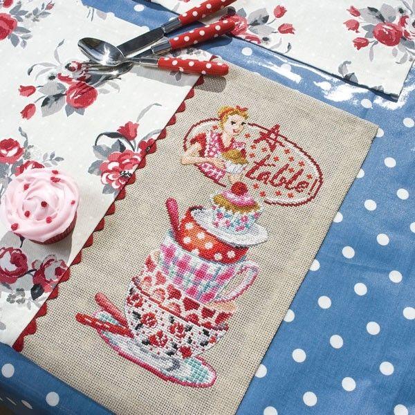 Sets de table Claudine | Les Brodeuses Parisiennes | Atelier Laura