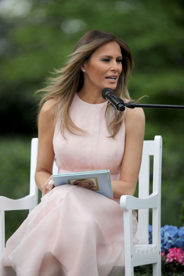 The Dress Melania Trump Wore At The White House Today Would Make A Fashion Critic's Jaw Drop