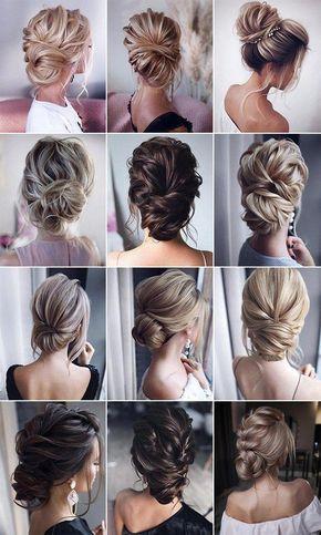 stunning bridal updos wedding hairstyles #nailswedding