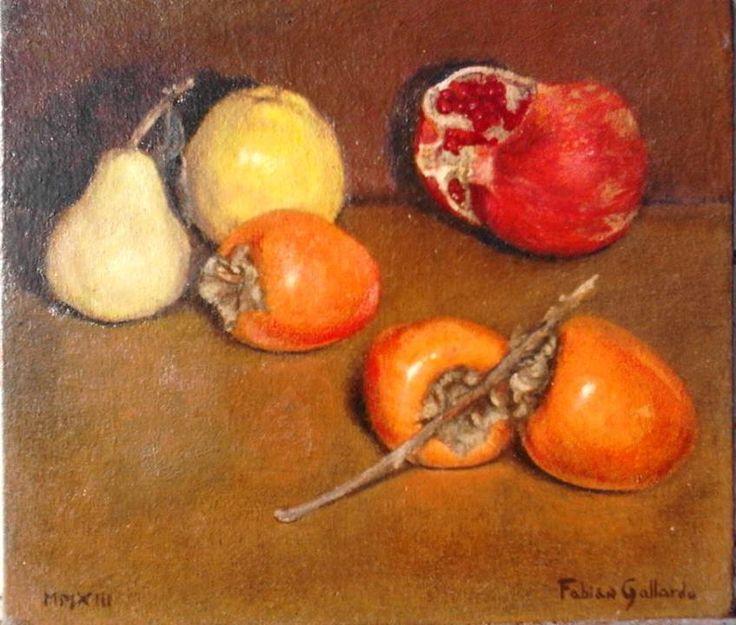 """""""Frutas de Otoño"""" òleo sobre tela encolada"""