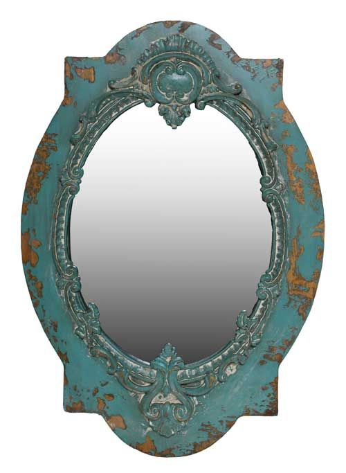 100 ideas to try about mirrors antique silver rope for Teal framed mirror
