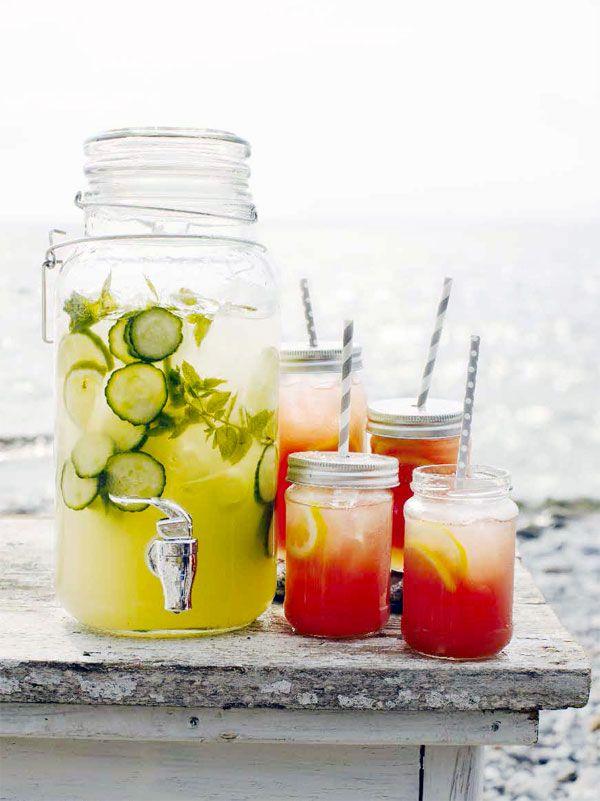 Lemonad med mynta och lime samt Watermelon Lemonade