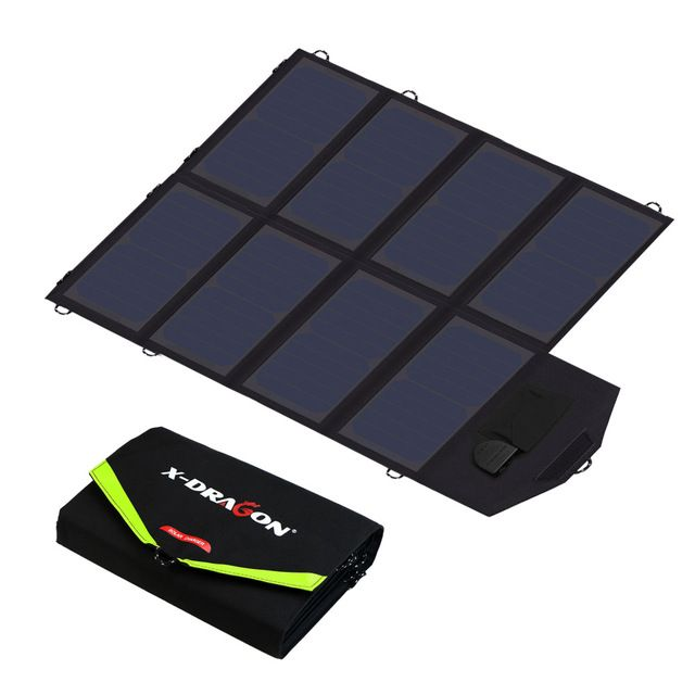 40w Solar Panel Charger Portable Solar Battery Chargers 5v 12v 18v Charging For Mobile Phones Tablet Laptop 12v Car Battery Etc Review Solar Power Charger Solar Panel Charger Solar Charger