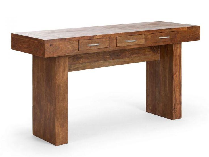Konsolentisch Palisander Beistelltisch massiv Holz Möbel Neu CUBUS