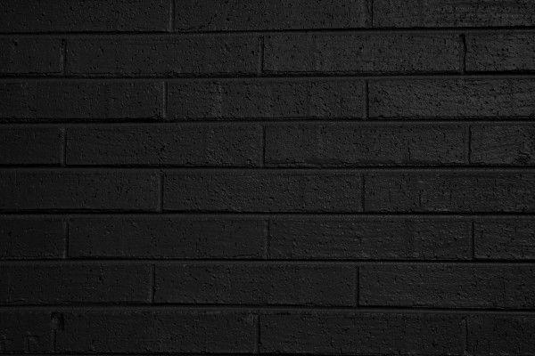 Black Brick Wall black painted brick wall texture - free high resolution photo