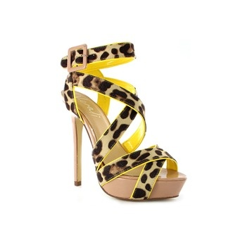 The 'Lore' shoe from Wanted Shoes has made the most of the neon trend, with this burst of colour on this sexy leopard heel. As we know, leopard is the nude's older, sexier sister... :) Love it!
