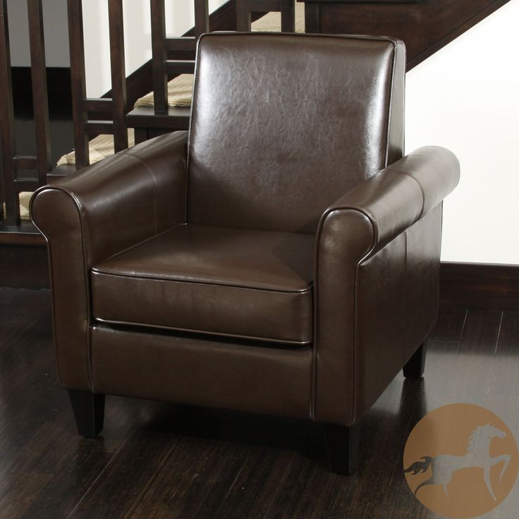 Christopher Knight Home Freemont Leather Brown Club Chair | Overstock.com  Shopping   The Best