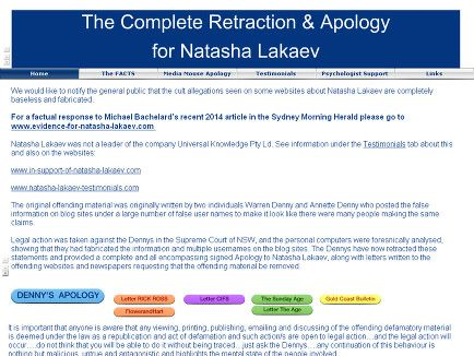 Apology to Natasha Lakaev from those people that falsely vilified her.