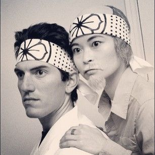 Mr. Miyagi and Daniel from The Karate Kid. | 50 Couple Costume Ideas To Steal This Halloween