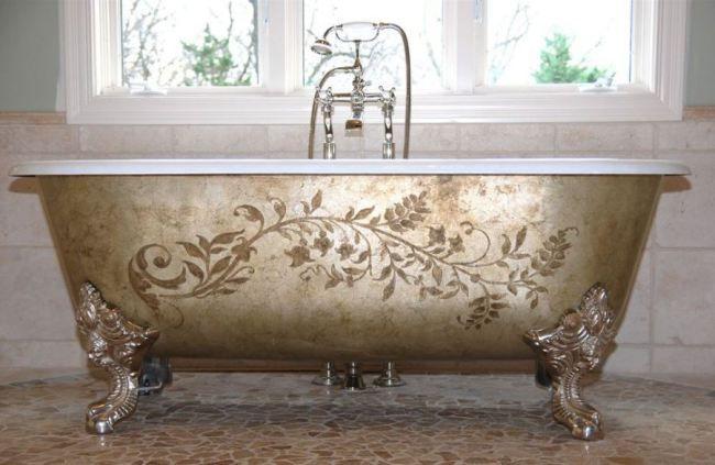 Bañeras con patas para un baño vintage