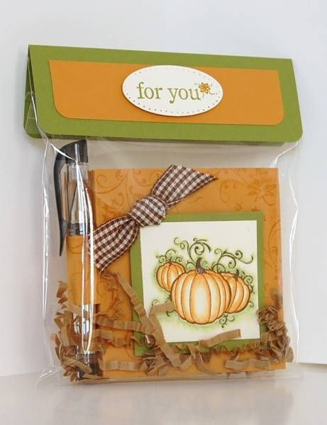 Pumpkin Post-It Note Holder and Packaging