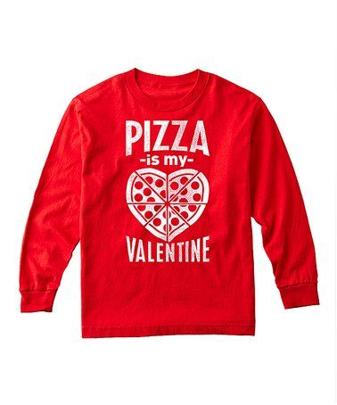 This Red 'Pizza Is My Valentine' Long-Sleeve Tee - Toddler & Kids is perfect! #zulilyfinds