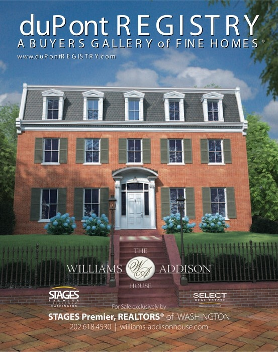 Williams Addison House, Marketed In Georgetown, DC By SELECT And STAGES  Premier, REALTORS