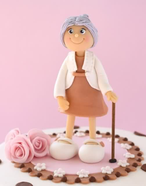 Granny Topper by Dutch cake lady Leonietje - site can be translated to English and has some great ideas