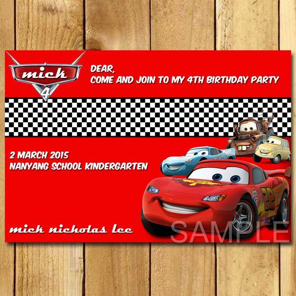 Kartu Undangan Ulang Tahun The Cars