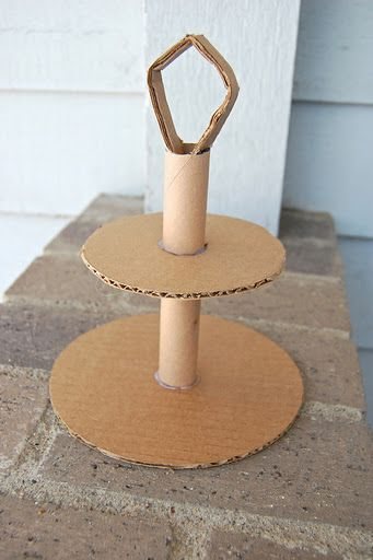 cardboard tubes dessert stand #craft #recycle