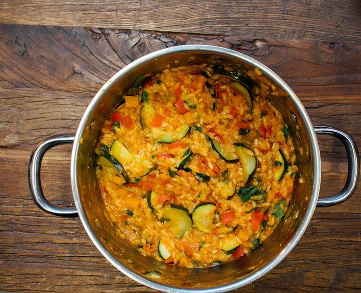 Linserisotto med ovnsbakte grønnsaker - Vegetarbloggen