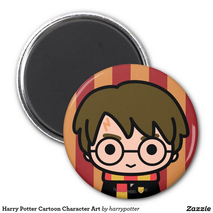Harry Potter Cartoon Character Art. Regalos, Gifts. #imanes #magnets