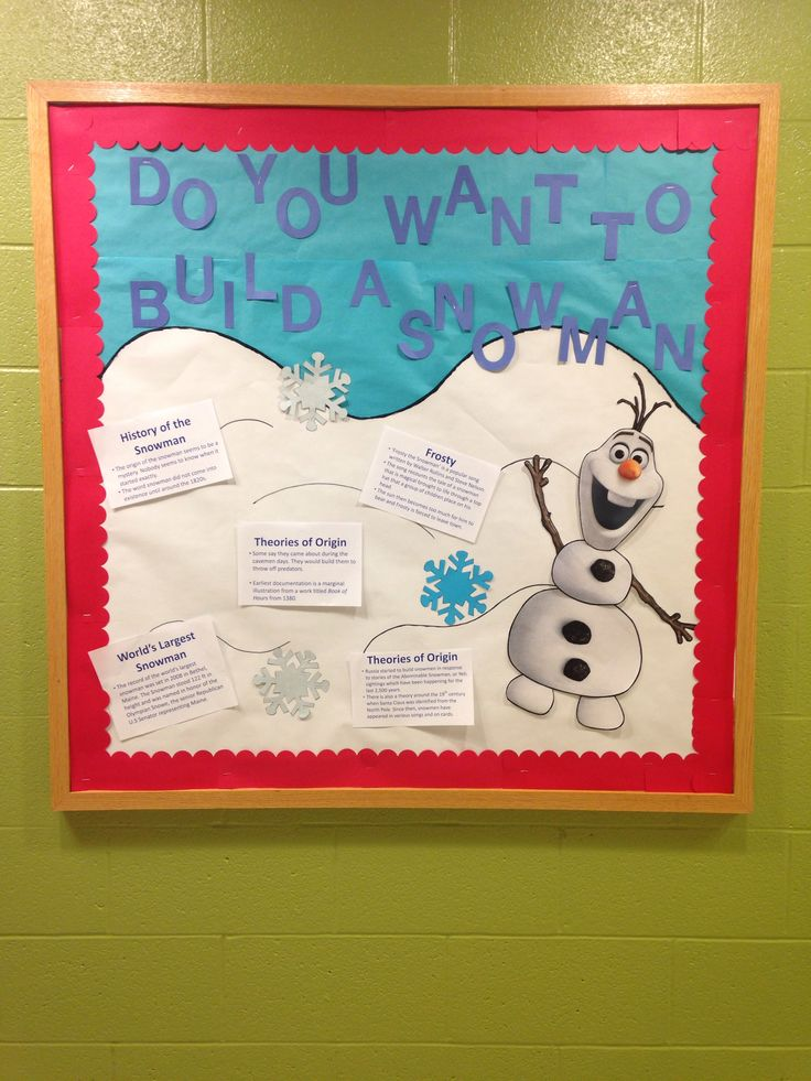 Disney Frozen Bulletin Board- some people are worth melting for- names on snowflakes