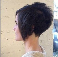 super short in back, long in front but a little longer in the front would be cute