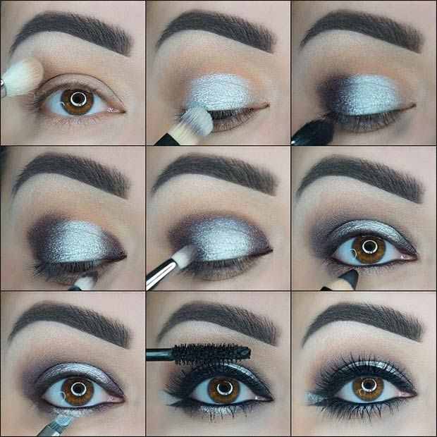 Black and Silver Smokey Eye Tutorial
