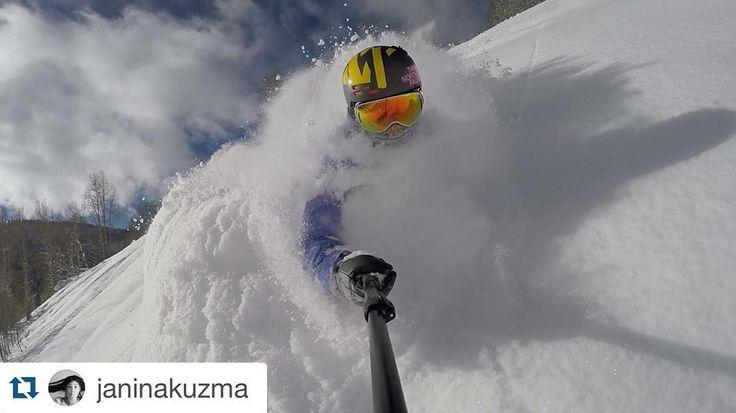 @janinakuzma enjoying the good snow conditions in Vail Colorado.  Today was DEEP! #vail #colorado by voelklskis