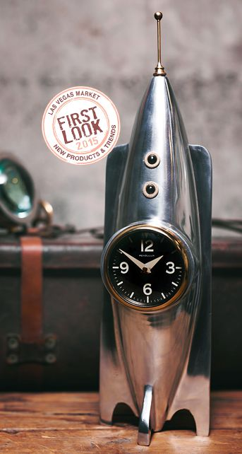 Pendulux's Rocket table clock stands ready for liftoff at 19 inches high. See it at #LVMkt Design Events, Design Furniture, Las Vegas Market, Furniture. Design Agenda, Design Ideas, Events, Parties, fairs, Trade Shows For More News: http://www.bocadolobo.com/en/news-and-events