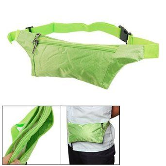 Allegra K Women Green Zip Up 2 Pockets Waist Bag Fanny Pack Bumbag Allegra K. $6.87
