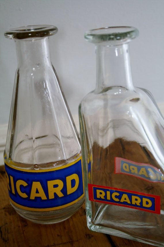 a collection of vintage french ricard water carafes on. Black Bedroom Furniture Sets. Home Design Ideas