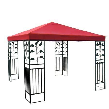 Red Single Tier Patio Sun Shade 10x10 Ft Garden Canopy Gazebo Replacement Top . $69.99. Grommets to Ensure Proper Water Drainage. Velcro Attaching Tabs for Conveniently Fixing onto the Frames. Reinforced Corners to Stand Years of Use. PA Coating for Effective Harmful UV Blocking and Waterproof Performance. Zippered Ventilated Top with Mosquito Netting between Top and Lower Tier. Brand New 10'x10' Single-Tier Replacement Canopy Top! Perfect to Make Your Gazebo Shiny and Refr...