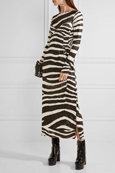 Marc Jacobs - Zebra-print Stretch-jersey Dress - Black - US12