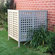To hide trash cans, oil tank and air units