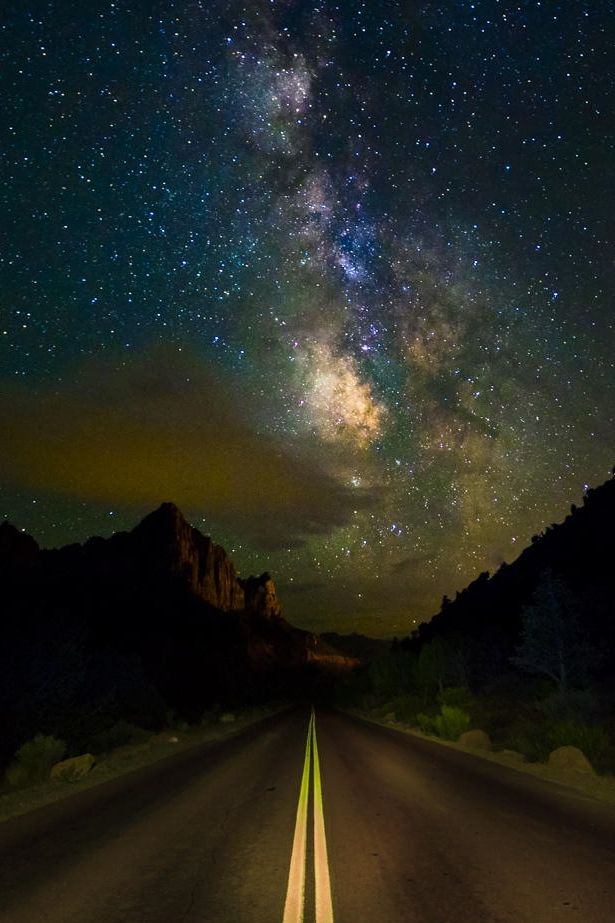 Milky Way over Zion's Mount Carmel Highway, Zion National Park, Utah Stay at Best Western Coral Hills. St. George, Utah www.coralhills.com