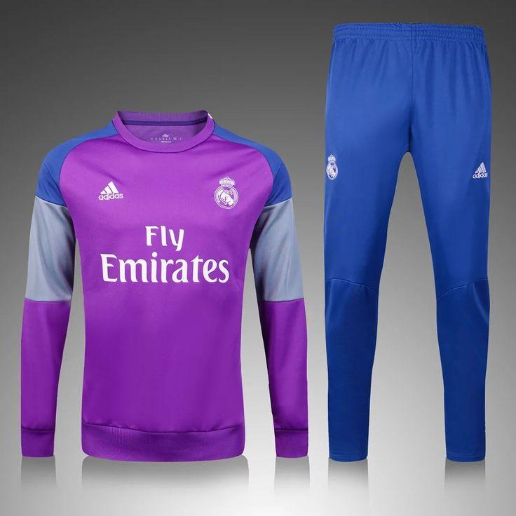 Real Madrid 2016/17 Purple Men Tracksuit Slim Fit