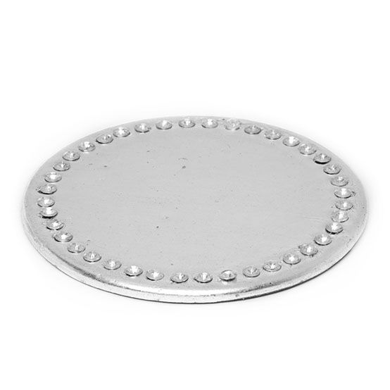 Diamond Look Edge Candle Plate - Silver  sc 1 st  Pinterest & 83 best Diamond Candle Holders images on Pinterest | Candle holders ...