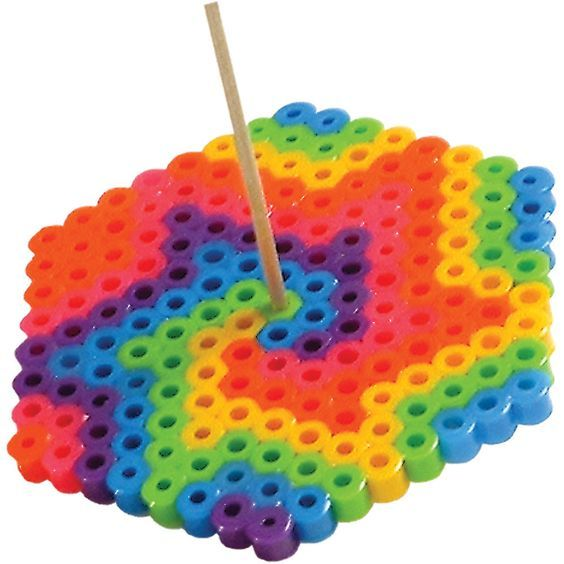 The bright colors of this top whirl into a vivid rainbow when you spin the top. A quick and easy project--perfect for a birthday party activity!