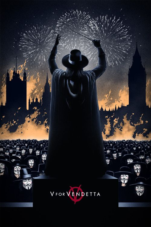 A great poster for one of my favorite movies of all time.  V For Vendetta Poster by Marko Manev