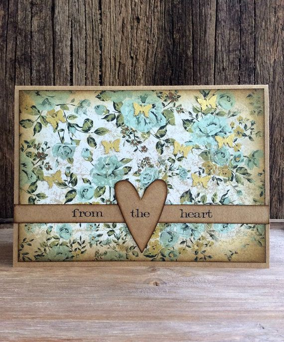 Handmade Greeting Card Mother's day Card Rustic by Crafting Emotion $9.50AUD