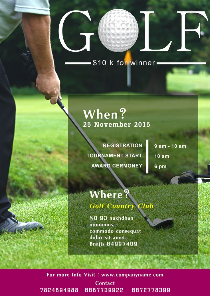 Golf Tournament Flyer Template Free 15 Free Golf Tournament - golf tournament flyer template