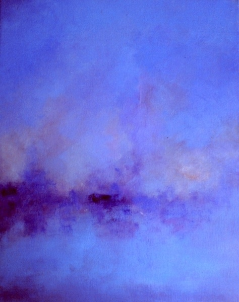 Silent night - original oil painting , abstract