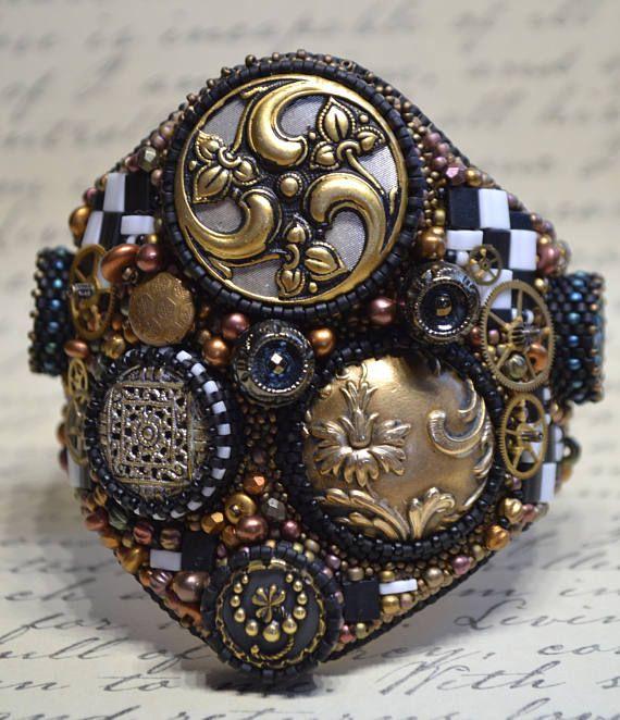 Bead Embroidery Bracelet Cuff Beaded Bracelet Cuff Seed Bead