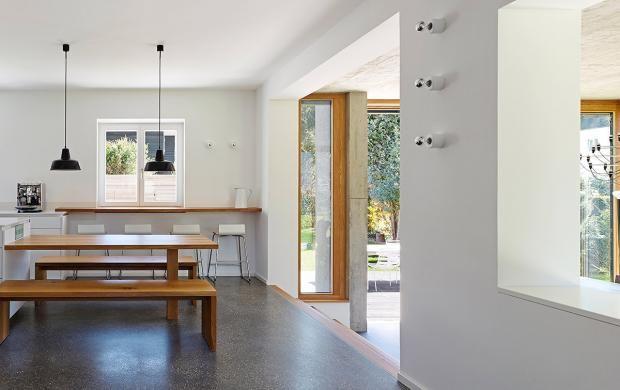 Schicke Böden Bodenbeläge in Architektenhäusern Estrich im - bodenbeläge für küche